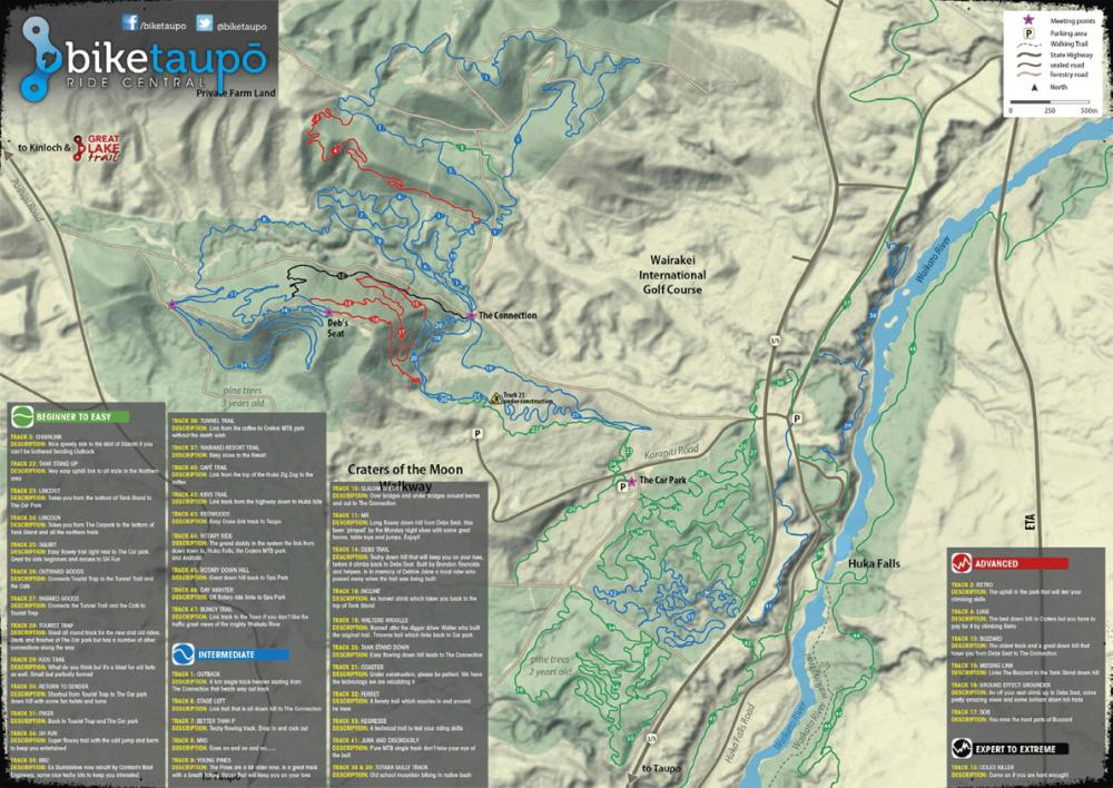 Craters Mountain Bike Park Taupo Information